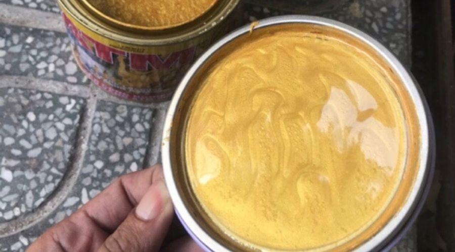 Cách Pha Màu Nhũ Vàng