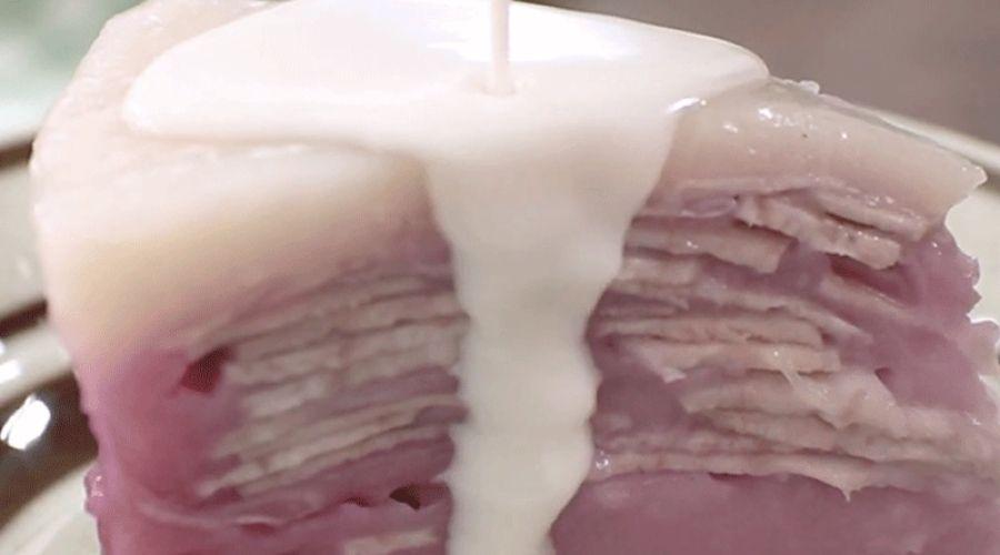 Cách Làm Bánh Màu Tím Khoai Môn Thành Phẩm