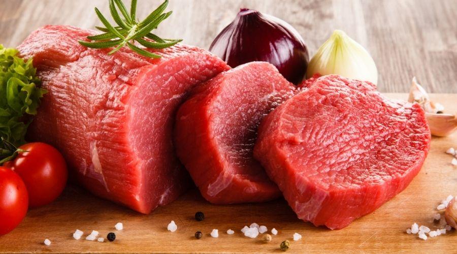 Thực Phẩm Màu Đỏ Dâu Tây Thịt Bò